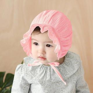 I Love Daddy & Mummy Mũ vải nhún bèo cho bé gái chất liệu mềm mại thoáng mát vừa che nắng vừa thời trang