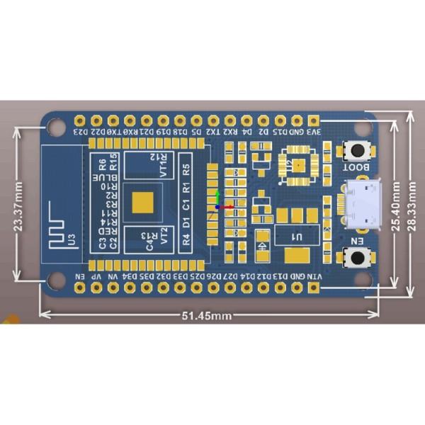 NodeMCU ESP32 Wifi BLE - CP2102- (kit thu phát IoT)