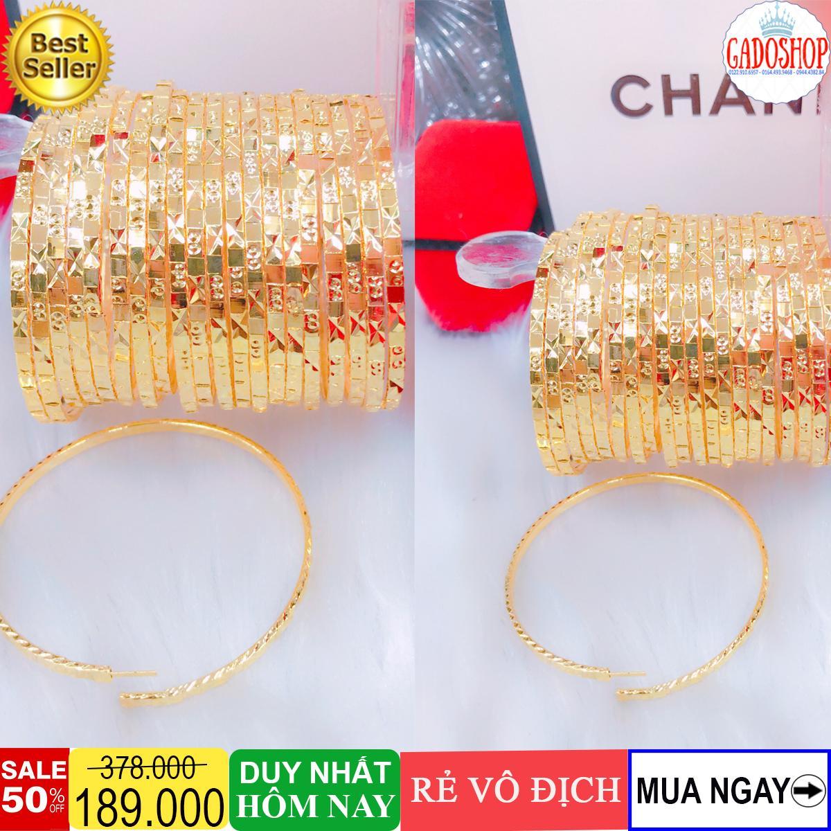 Vòng tay nữ, bộ ximen 7 chiếc mạ vàng cao cấp sang trọng thiết kế tinh xảo Trang Sức Gadoshop VX11091901 - ĐI đi tiệc, đi làm cực đẹp sang trọng