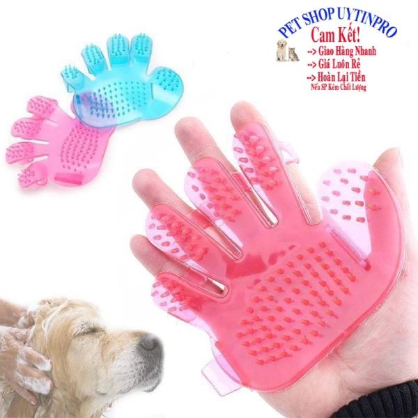 [HCM]MIẾNG TẮM MASSAGE THÚ CƯNG CHÓ MÈO Hình bàn tay Chất liệu nhựa siêu dẻo Màu hồng nhạt