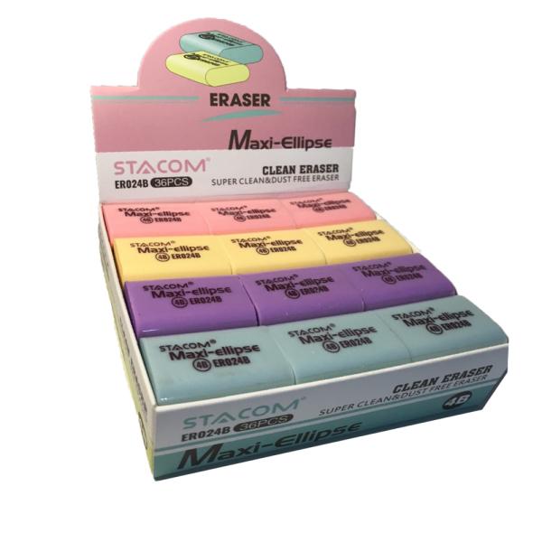 Gôm 4B nhiều màu stacom ER014B/ER024B