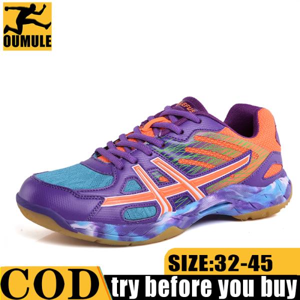 Oumule Giày Cầu Lông Cho Nam Và Phụ Nữ Không Mặc Trượt Chịu Mài Mòn Giày Chạy Bộ Thể Thao Thoáng Khí Hấp Thụ Sốc Giày Tennis Sneakers