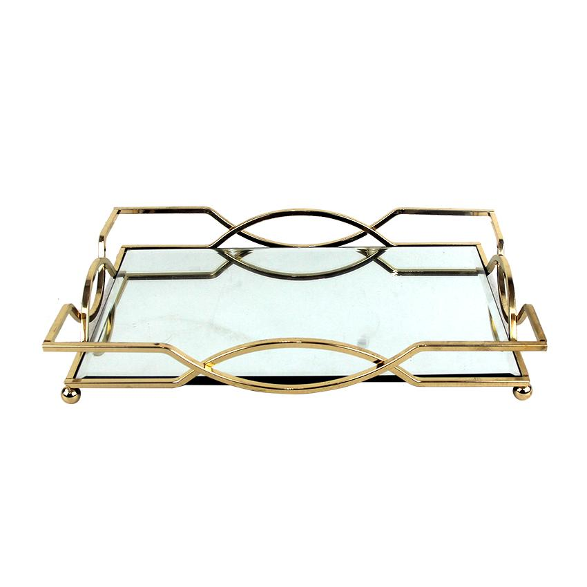 Light Luxury Wind Model Room Living Room Teapoy Table Decorations Metal Tray Decoration Northern Europe Room Bedroom Storage Tray Asian Creative Luxury Art Works