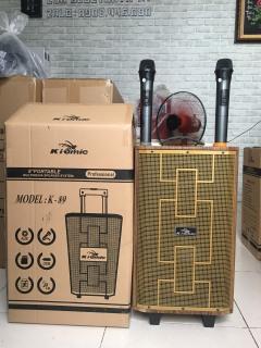 [HCM]Loa Vali Kéo Di Động Tặng Kèm 2 Micro Không Dây Karaoke Bluetooth K89 Âm Thanh Siêu Đỉnh 300W thumbnail