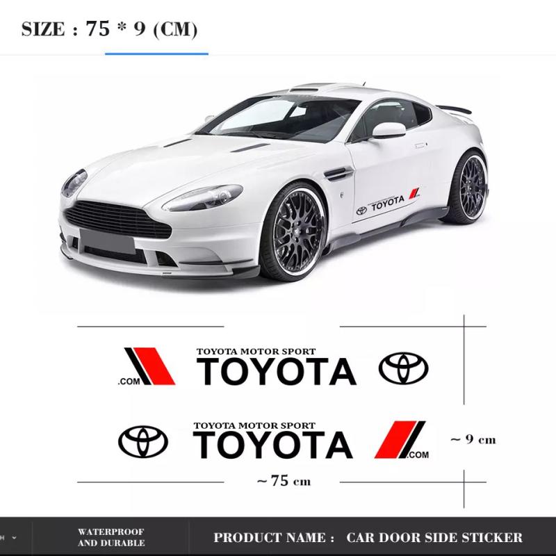 Bộ 2 tem dán cửa xe ô tô Toy