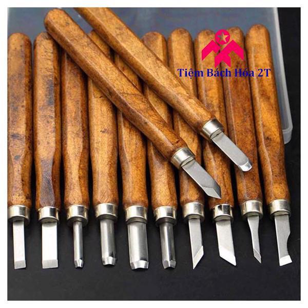 Bộ dụng cụ khắc đục tiện gỗ 10 món cao cấp V2