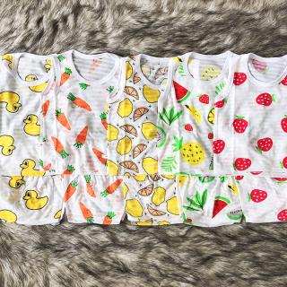 Bộ cotton sợi tre ba lỗ mát mẻ cho bé trai và bé gái 2-13kg chất thun co giãn đủ họa tiết đáng yêu BBShine BVN037 thumbnail