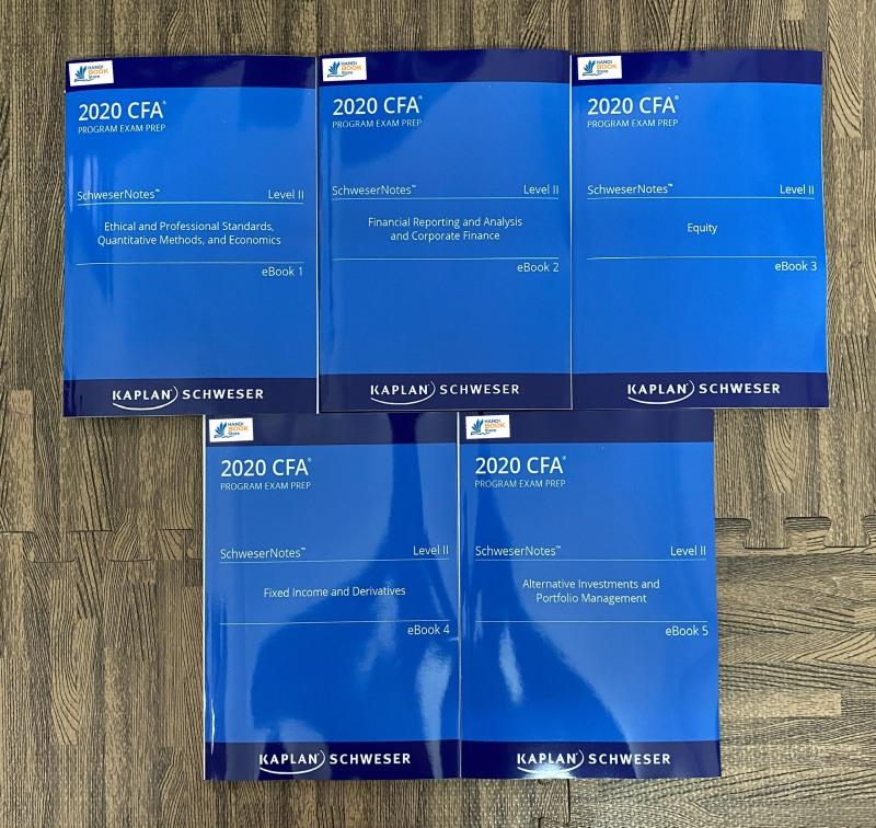 bộ sách 5 quyển CFA 2020 Level II - SchweserNotes Book - Hanoi bookstore