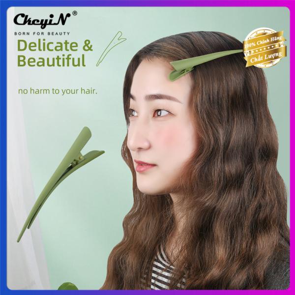 CkeyiN kẹp tóc 1 cái màu xanh lá cây dễ thương kiểu Hàn Quốc để làm tóc dễ và thuận tiện hơn