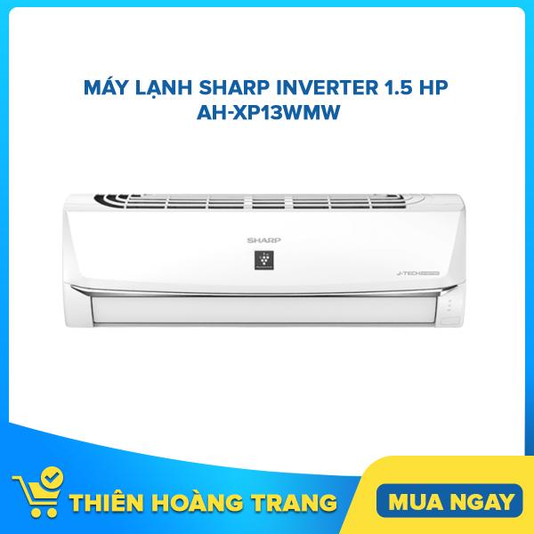Máy lạnh Sharp Inverter 1.5 HP AH-XP13WMW - Tặng Bộ Nồi Sharp PR-J03