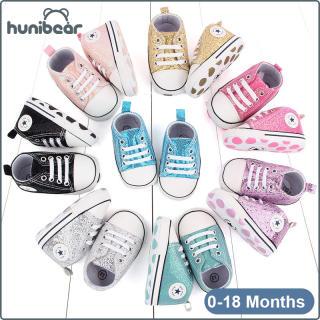 Baby Chàng Trai Cô Gái Giày Giày Vải Giản Dị Giày Mềm Duy Nhất Sequined Toddler Giày 0-18 Tháng