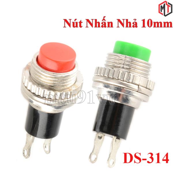 (4 Cái ) - Nút Nhấn Nhả - Nút Reset 10mm DS-314