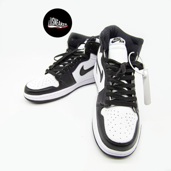 Giày thể thao video ảnh thật giày sneaker jordan đen trắng panda cao cổ nam nữ full box bill tag