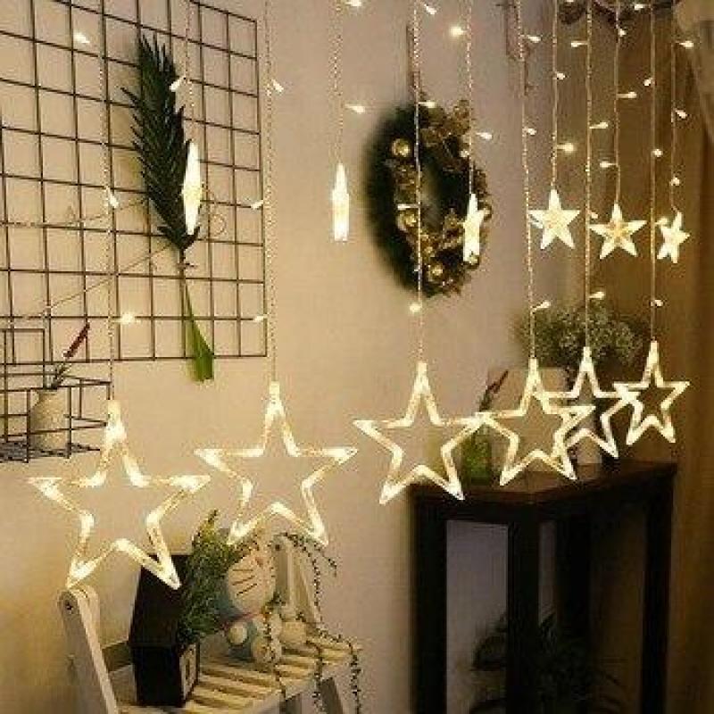 Bộ chùm bóng nháy hình ngôi sao (6 sao lớn và 6 sao nhỏ)
