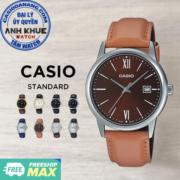 Đồng hồ nam dây da Casio Standard chính hãng Anh Khuê MTP-V002 Series (37mm)