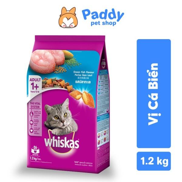 Whiskas Thức Ăn Hạt Cho Mèo Vị Cá Biển - 1.2kg