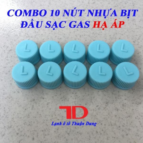COMBO 10 Nút nhựa bịt đầu sạc gas hạ áp L màu xanh