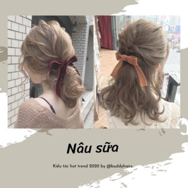 Tự nhuộm tóc màu Nâu sữa tại nhà, hàng nội địa Việt Nam, không gây hư tổn cho tóc (Trọn bộ tặng gang tay, trợ nhuộm) cao cấp