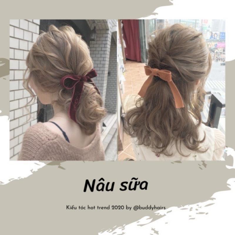 Tự nhuộm tóc màu Nâu sữa tại nhà, hàng nội địa Việt Nam, không gây hư tổn cho tóc (Trọn bộ tặng gang tay, trợ nhuộm) giá rẻ