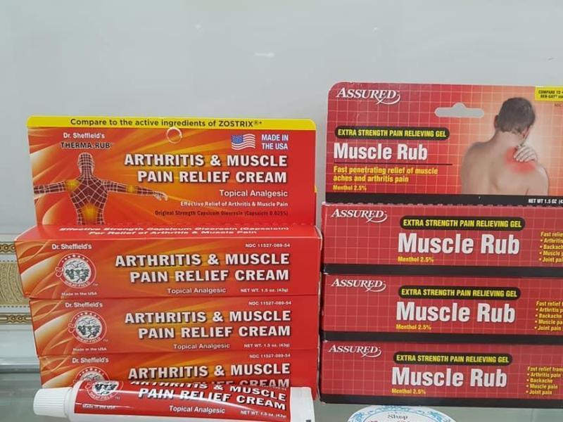 Dầu nóng dạng gel #MuscleRub 42.5g  OR ThermaRub 43g ( Hàng xách tay Mỹ ) tốt nhất