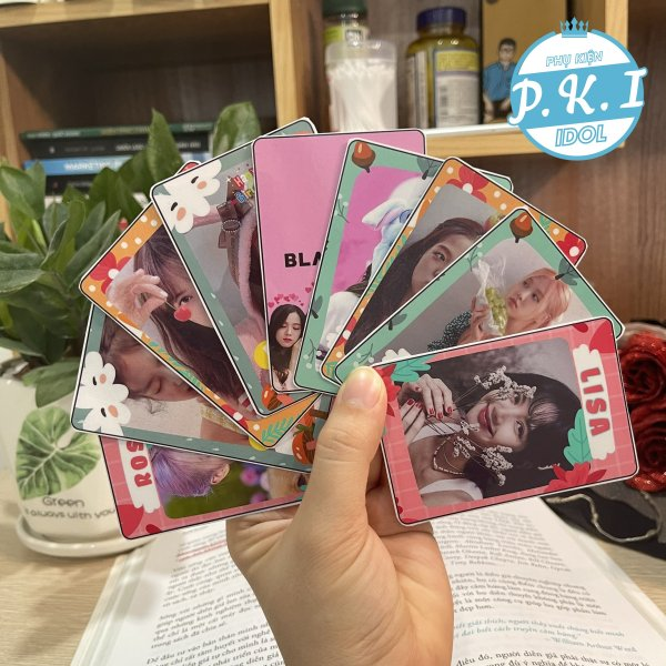 Bộ Card Cứng In Hình Nhóm Nhạc – Các Thành Viên Blackpink Bo Góc