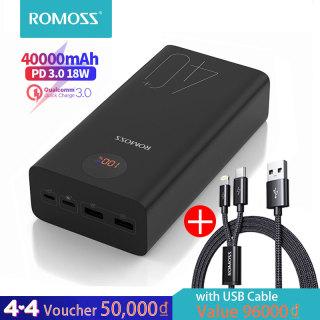 Romoss điện di động Zeus mAh ngân hàng điện 18 Wát PD QC 3.0 Hai chiều sạc nhanh Type-C Charger cho iPhone Xiaomi Huawei thumbnail