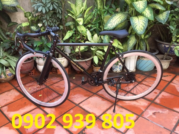 Mua Road Bike tự ráp (Nâng cấp lên từ Fixed Gear bãi Nhật) 2 dĩa 5 líp 10 tốc độ cao từ 1m6 trở lên chạy