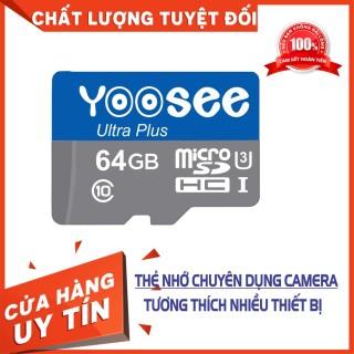 Thẻ Nhớ Yoosee 64GB, Thẻ Chuẩn Tốc Độ Cao,TƯƠNG THÍCH TẤT CẢ CÁC DÒNG CAMERA VÀ ĐIỆN THOẠI thumbnail