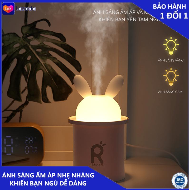 Máy phun sương Jisulife JT03 - Tao độ ẩm trong môi trường và giữ ẩm cho da 250ml - Thiết kế tai thỏ đáng yêu tự động tắt khi hết nước - Giúp vừa làm đèn ngủ vừa thư giãn có thể kết hợp với tinh dầu thơm