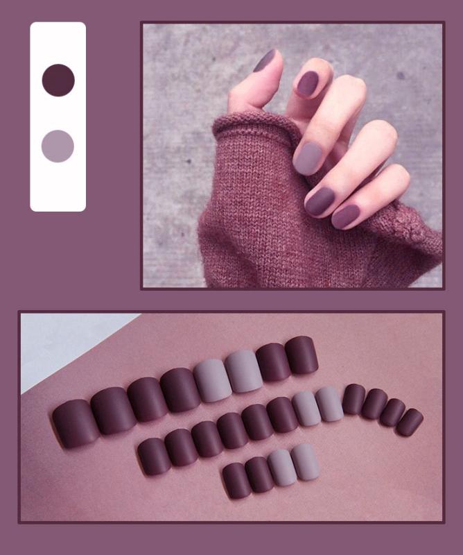 Bộ 24 móng tay giả nhám (Kèm keo dán) giá rẻ