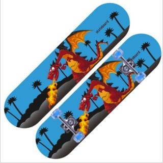 Ván Trượt Skateboard Thể Thao Trẻ Em, Người Lớn Gỗ Phong Ép 7 Lớp Cao Cấp Bánh Cao Su Siêu Bền thumbnail