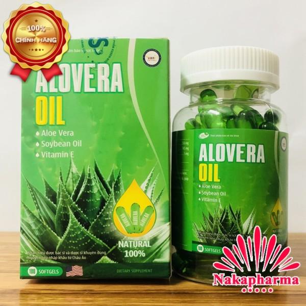 ALOVERA OIL Dầu Lô Hội – Bổ sung vitamin E, dành cho người bị đại tràng, rối loạn da - Giúp thanh nhiệt, mát gan giá rẻ