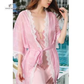 Áo choàng Kimono voan in logo Venus Secret thumbnail