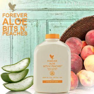 Forever Aloe Bits N peaches 077 FLP nước uống Dinh Dưỡng vị Đào thumbnail