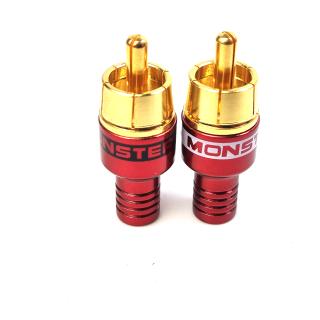 Jack AV Monster chính hãng chuôi nhỏ 4mm để hàn dây tín hiệu AV 1 cặp 2 cái chữ đỏ và đen thumbnail