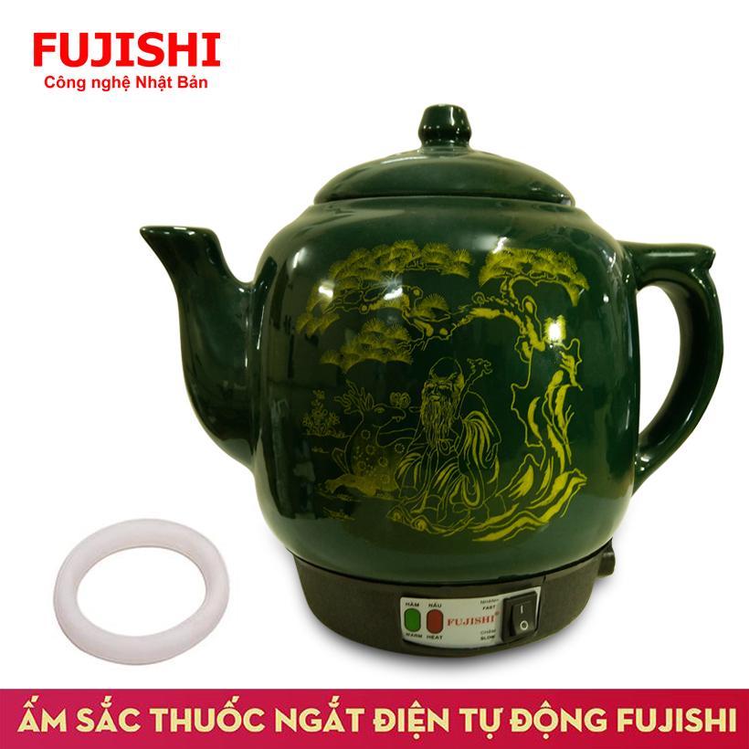 Ấm sắc thuốc điện GỐM BÁT TRÀNG Fujishi HK-066 (Xanh Lục)