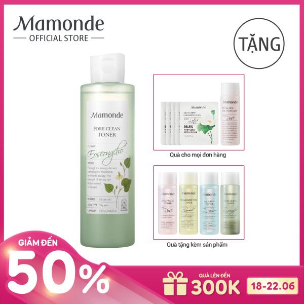 Nước cân bằng làm sạch dầu nhờn và ngăn ngừa mụn Mamonde Pore Clean Toner 250ml tốt nhất