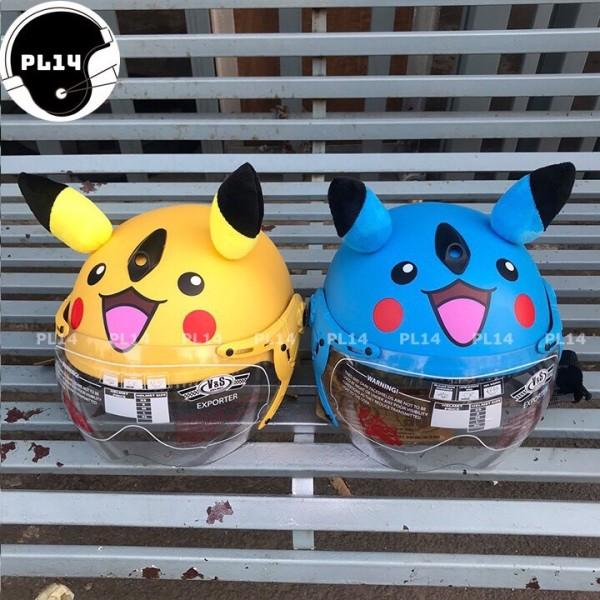 Giá bán Nón Bảo Hiểm Trẻ Em Pikachu Có Kính V&S Helmet Cho bé Từ 3-6 Tuổi
