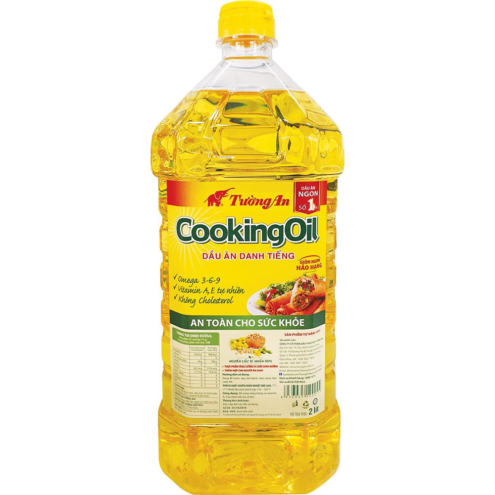Chai Dầu Ăn Tường An Cooking Oil 2L- Hàng Chính Hãng Date Mới