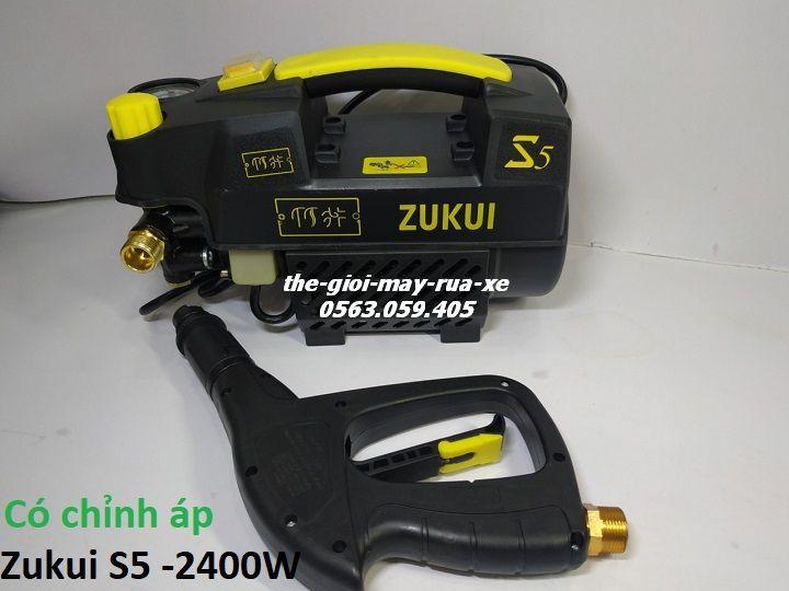 Máy Rửa Xe Chỉnh áp Zukui S5 - 2400W [Osaka ZJ] - Tặng Bình Xà Bông - Đen Siêu Giảm Giá