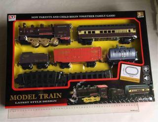 Bộ đồ chơi đường ray tàu hỏa 5 toa cỡ lớn cao cấp MODEL PYK7 Train( kích thước lắp 126x84cm) thumbnail