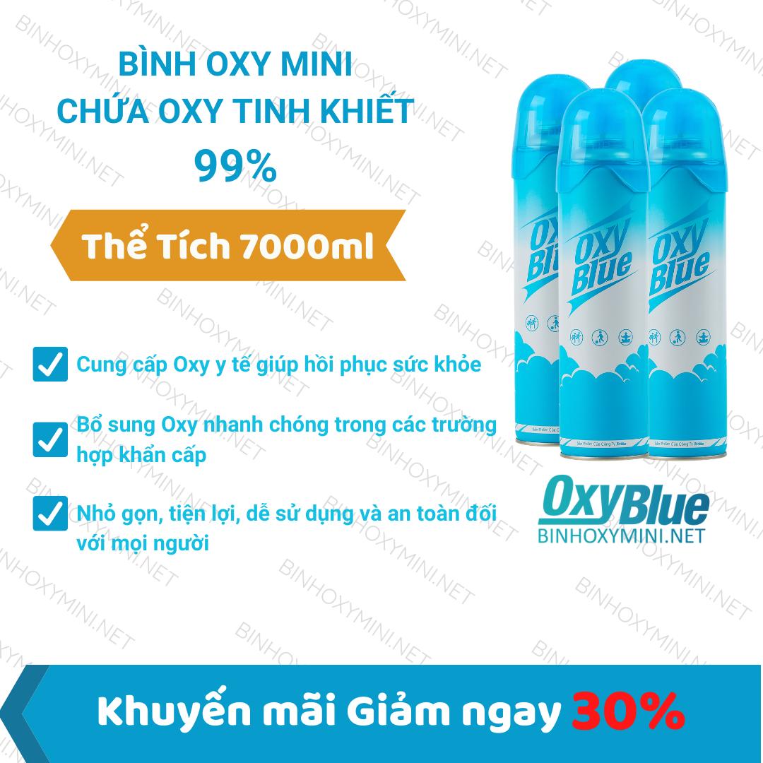 Bình Oxy Mini Cầm tay chứa Oxy tinh khiết 99%