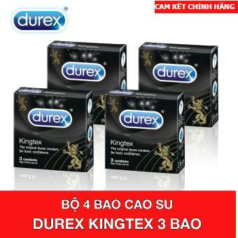Combo 4 Hộp Bao Cao Su Durex Kingtex 3 Condoms