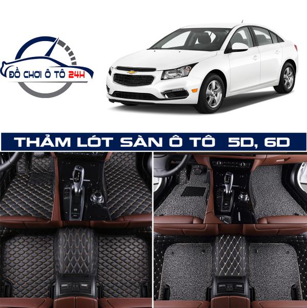 Thảm lót sàn ô tô 6D chống bẩn, chống mùi Chevrolet Cruze