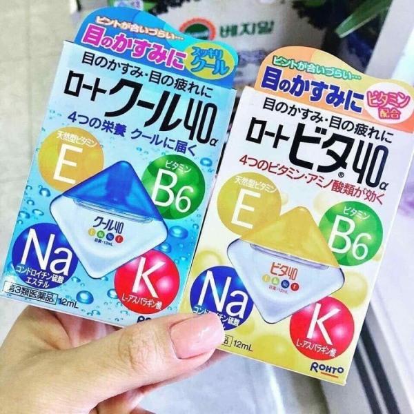 Thuốc Nhỏ mắt Rohto Nhật Bản Vita 40 bổ sung vitamin (12ml) giá rẻ