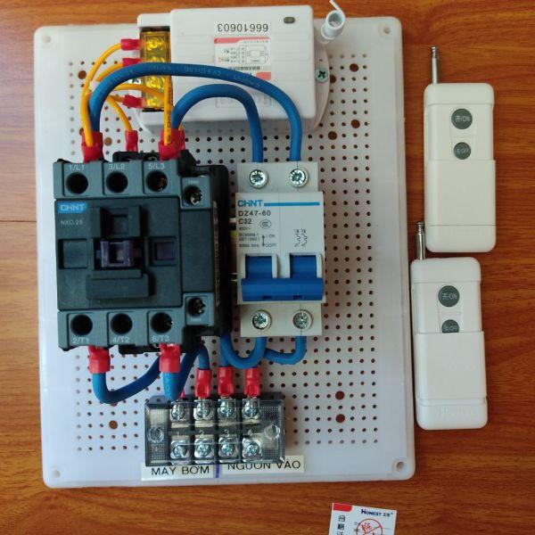 Bộ điều khiển Bật tắt bơm nước,motor từ xa 1hp - 5hp 1 pha 220V