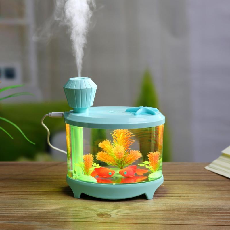 Bảng giá Máy tạo độ ẩm hình bể cá mini , máy phun sương tạo ẩm với khả năng phun sương đều trong không khí, thẩm thấu và tốt cho da
