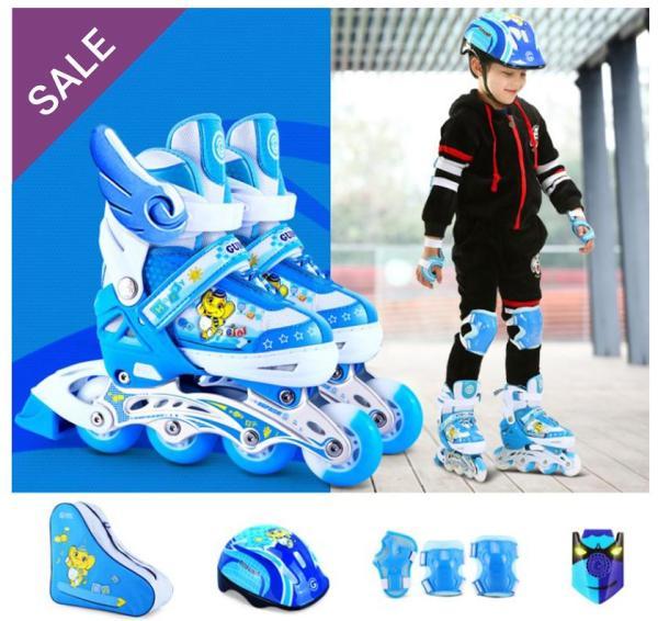 Phân phối Giầy trượt patin cao cấp tặng kèm bộ bảo vệ chân tay và mũ bảo hiểm, thuộc bộ sp Giày trượt patin trẻ em, Giày patin trẻ em, Giá giày trượt patin, Giày patin trẻ em