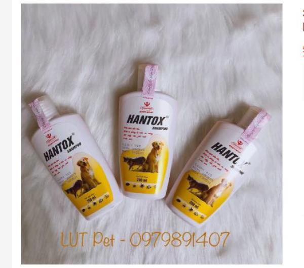 Sữa tắm hantox shampoo diệt ve rận bọ chét ghẻ chó mèo