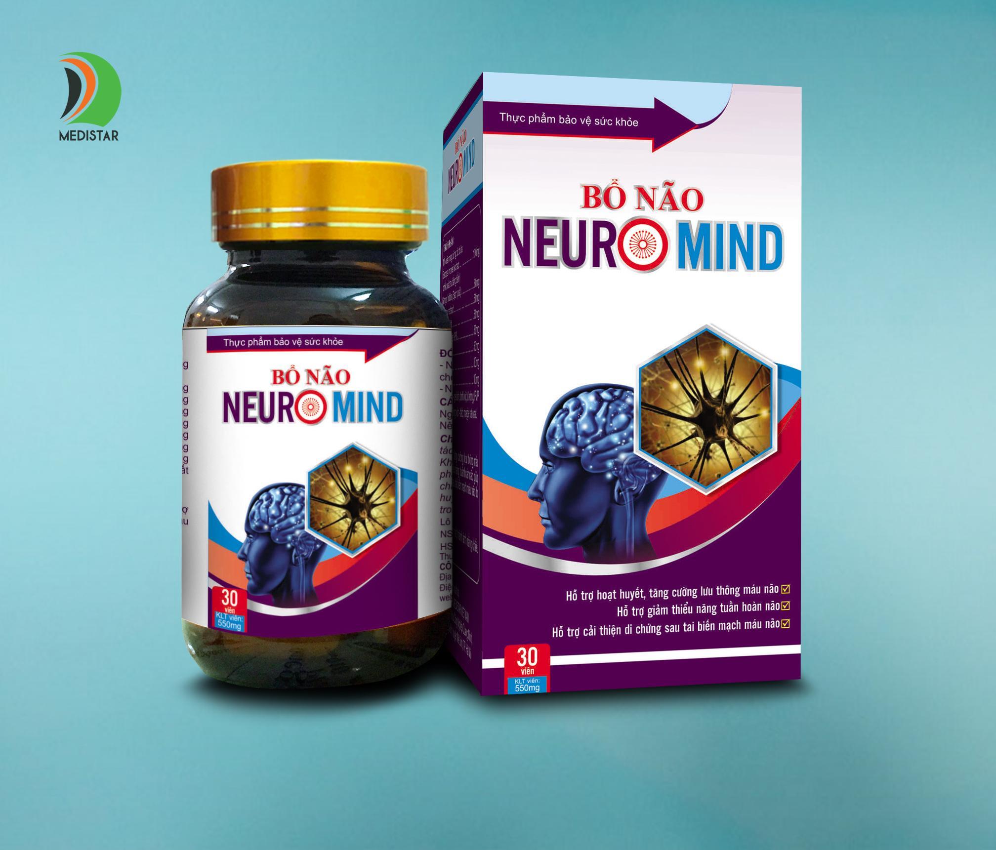 Thực phẩm chức năng viên bổ não NEUROMIND (hộp 30 viên)